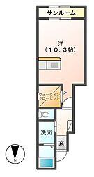 プレンソレール[1階]の間取り
