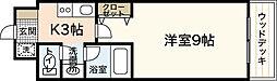 広島高速交通アストラムライン 高取駅 徒歩5分の賃貸マンション 2階1Kの間取り