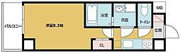 Osaka Metro千日前線 野田阪神駅 徒歩7分の賃貸マンション 5階1Kの間取り