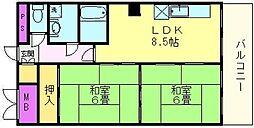 マイネハイマート深井[2階]の間取り