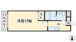 エル片野II[907号室]の間取り