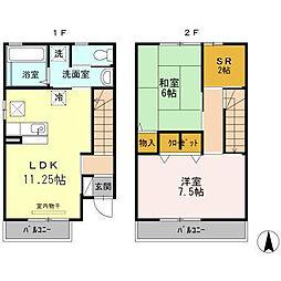 大阪府八尾市久宝寺3丁目の賃貸アパートの間取り