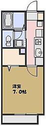フローラ東大宮[102号室号室]の間取り