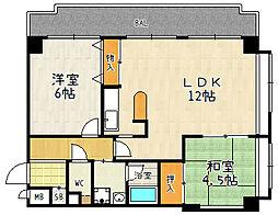 メゾンエイコー瀬田[305号室]の間取り