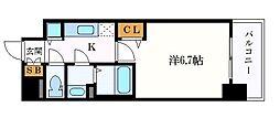 メインステージ名古屋ノースマーク 11階1Kの間取り