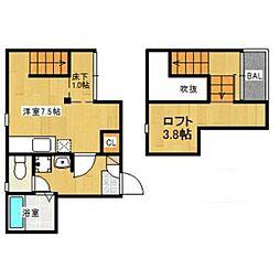 福岡県福岡市西区西都1丁目の賃貸アパートの間取り