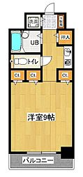 ダイニチコンストラクション 8階ワンルームの間取り