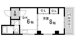 兵庫県神戸市須磨区若宮町3丁目の賃貸マンションの間取り