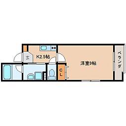 静岡県静岡市葵区本通7丁目の賃貸マンションの間取り