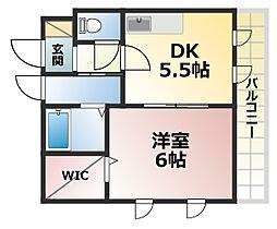 クレールハウス[2階]の間取り