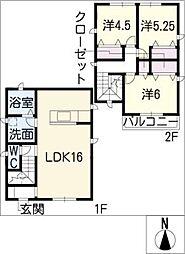[一戸建] 愛知県名古屋市西区稲生町6丁目 の賃貸【/】の間取り
