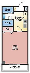 maison rouge[305号室]の間取り