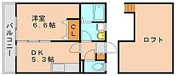 ベルコート博多[2階]の間取り