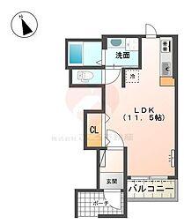 (仮)天美東8丁アパート[1階]の間取り