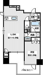 (仮称)アクセス天王寺・新築マンション[305号室]の間取り