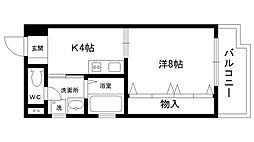 ドミール甲子園III[301号室]の間取り
