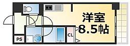 Osaka Metro千日前線 今里駅 徒歩4分の賃貸マンション 4階1Kの間取り