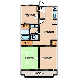 兵庫県尼崎市食満6丁目の賃貸マンションの間取り