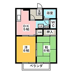 サニーソシア[2階]の間取り