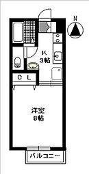 グランフォルム西田代[105号室]の間取り