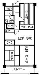 ドミール羽村[4階]の間取り