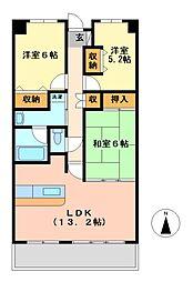 井清寿マンション[10階]の間取り