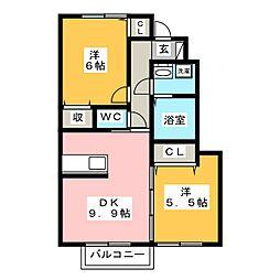 メゾンボヌールi[1階]の間取り
