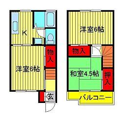 [テラスハウス] 千葉県野田市岩名2丁目 の賃貸【/】の間取り