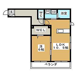 クレール彩[2階]の間取り