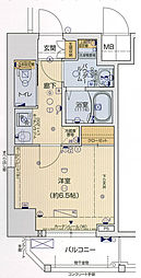 Osaka Metro千日前線 阿波座駅 徒歩7分の賃貸マンション 5階1Kの間取り