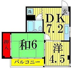 渡辺第二ハイツ[101号室]の間取り