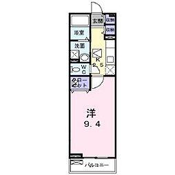 JR信越本線 長野駅 徒歩34分の賃貸アパート 1階1Kの間取り