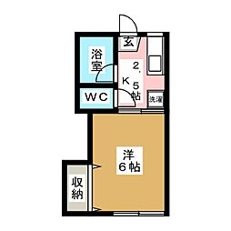ハイネスA棟[2階]の間取り