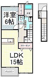 エトワール・KII[2階]の間取り