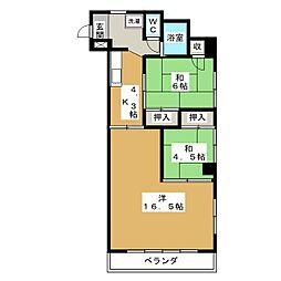奈良マンション[3階]の間取り