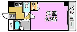 ハイツNANIWA[5階]の間取り