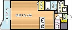 セレスタイト黒崎[5階]の間取り