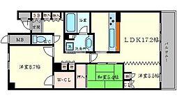 エルグレース彩都箕面D棟[2階]の間取り