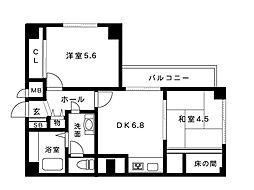マンション逸[3階]の間取り