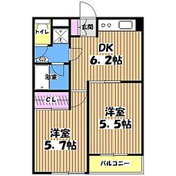 ユーコート久我山[3階]の間取り