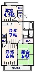 ガーデンホームズⅠ[2階]の間取り