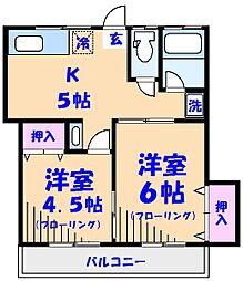 第2山文荘[103号室]の間取り