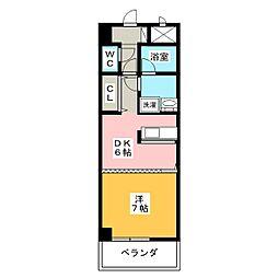 ルミエール青山8[4階]の間取り