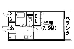 シャトーMUKUNOKI[105号室]の間取り