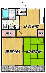 ハイツイシワタ5[103号室号室]の間取り