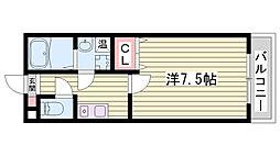 神戸市西神・山手線 伊川谷駅 徒歩3分の賃貸アパート 1階1Kの間取り
