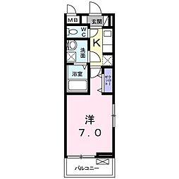香川県高松市宮脇町2(アパート) 2階1Kの間取り