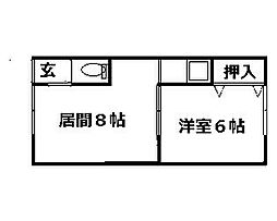 北海道札幌市南区藤野二条11丁目の賃貸アパートの間取り