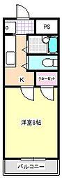 八田ハイツ[3階]の間取り