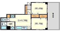 第3クリスタル三国駅前[1階]の間取り